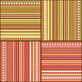Colorful ethnic seamless pattern design set