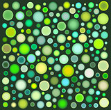 many green yellow bubbles over deep green