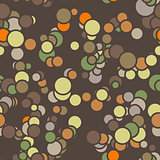 Vector seamless pattern of colored circles with contours