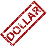 Dollar rubber stamp