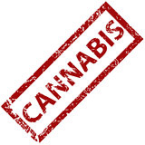 Cannabis rubber stamp