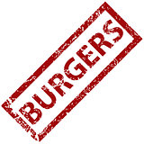 Burgers rubber stamp