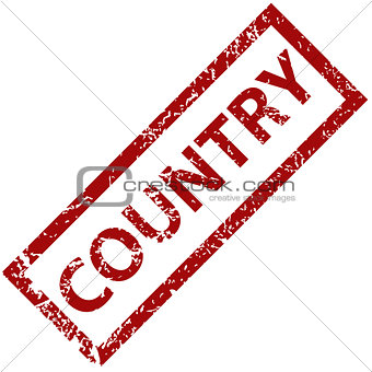 Country rubber stamp
