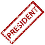 President rubber stamp