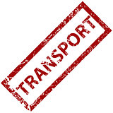 Transport rubber stamp