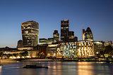 City of London Skyline at dusk