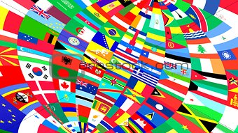Background of World flags