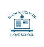 Back to School Logo Flat Icon