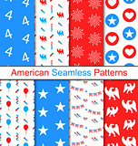 Set Seamless Pattern for Independence Day