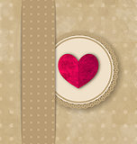 Valentine's Day retro elegance grunge background with pink heart