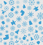 Christmas wallpaper with traditional elements