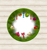 Christmas frame with traditional elements and copy space for you