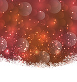 Winter snowflakes background with copy space for your text