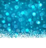 Winter frozen snowflakes background with copy space for your tex
