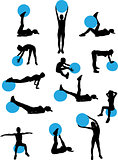 woman pilates workout