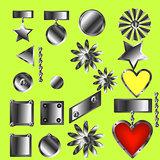 Set of decorative patterned awards