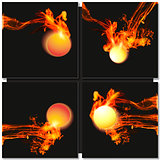 Abstract fire ball background
