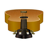 acoustic guitar in the projection