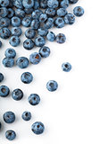 Fresh blueberries sprinkled