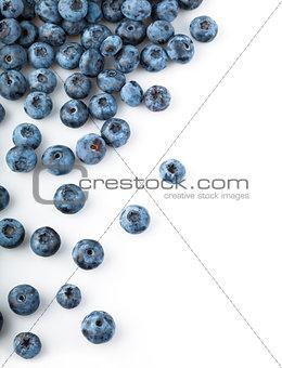 Fresh blueberries sprinkled