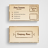 Retro business card with grunge template