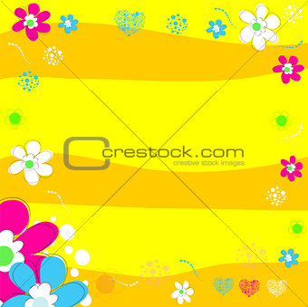 Bright wedding invitation in vector.
