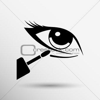 Closeup concealer stick under-eye circles facial blemishes
