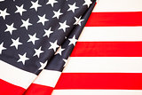 Symbol of American independence. Red white flag USA