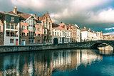 Bruges canal Spiegelrei, Belgium