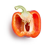 halved red bell pepper