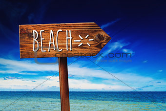 Beach Rustic Direction Sign