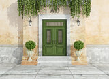Outdoor entrance of a country house