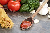 Spaghetti Sauce and Ingredients