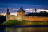 Night view of Novgorod fortress