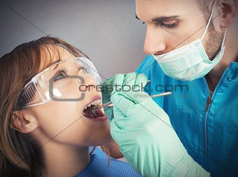 Cleaning of the teeth