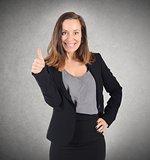 Thumb up businesswoman