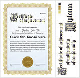 Gold certificate. Template. Vertical.