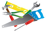 Construction Tools Colors Illustration