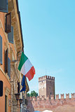 Castelvecchio and Italian flag