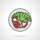 Salad flat color vector icon