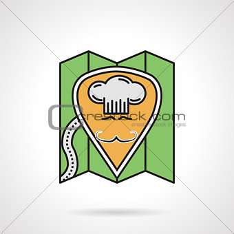 Cafe location flat color vector icon
