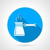 Contour vector icon for coffee pot