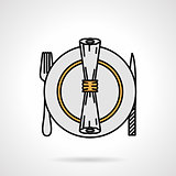Tableware flat color vector icon