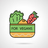 Vegetable bowl flat color vector icon