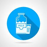 Contour vector icon for milk