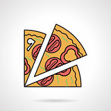 Pizza slice flat color vector icon