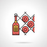 Wine cellar flat color vector icon