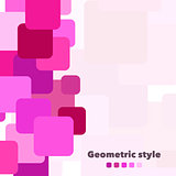 Abstract geometric vector background with place for your text. Illustration for web design, prints etc.