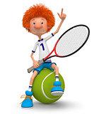 Boy tennis player