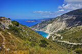 Panoramic View of beautiful Myrtos beach